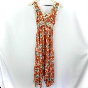 Hazel Asymmetrical Floral Crochet Dress Size Small